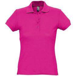 Textiel Dames Polo's korte mouwen Sols PASSION WOMEN COLORS Violeta