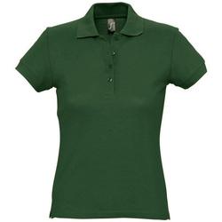 Textiel Dames Polo's korte mouwen Sols PASSION WOMEN COLORS Verde