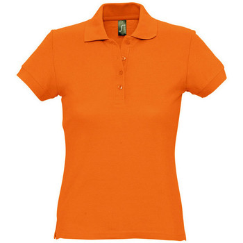 Textiel Dames Polo's korte mouwen Sols PASSION WOMEN COLORS Naranja