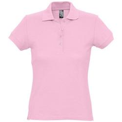 Textiel Dames Polo's korte mouwen Sols PASSION WOMEN COLORS Rosa