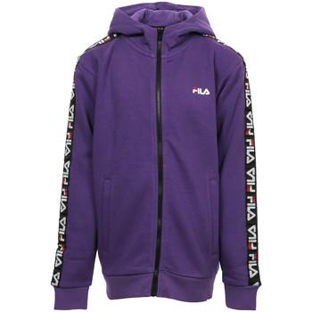 Textiel Meisjes Sweaters / Sweatshirts Fila Adara Tape Zip Jacket Kids Violet