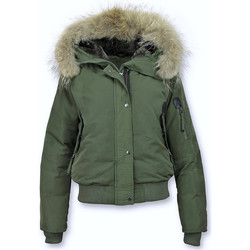 Textiel Dames Wind jackets Gentile Bellini Korte Warme Winterjas Bontkraag Groen