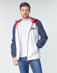 Textiel Heren Wind jackets Tommy Jeans TJM COLORBLOCK ZIPTHROUGH JCKT Wit / Blauw / Rood