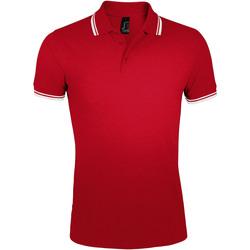 Textiel Heren Polo's korte mouwen Sols PASADENA MODERN MEN Rojo