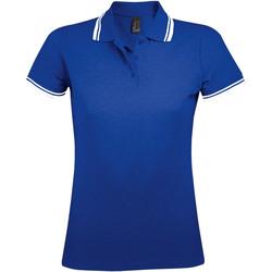 Textiel Dames Polo's korte mouwen Sols PASADENA MODERN WOMEN Azul