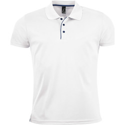 Textiel Heren Polo's korte mouwen Sols PERFORMER MEN SPORT Blanco