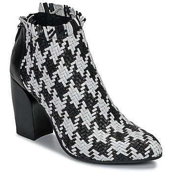 Schoenen Dames Low boots Mimmu  Zwart / Wit