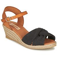 Schoenen Dames Sandalen / Open schoenen Pare Gabia BILMI Zwart / Bruin