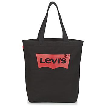 Tassen Dames Handtassen lang hengsel Levi's BATWING TOTE Zwart