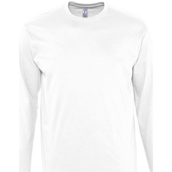 Textiel Heren T-shirts met lange mouwen Sols MONARCH COLORS MEN Blanco
