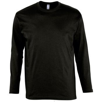 Textiel Heren T-shirts met lange mouwen Sols MONARCH COLORS MEN Negro