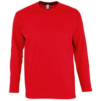 Textiel Heren T-shirts met lange mouwen Sols MONARCH COLORS MEN Rojo
