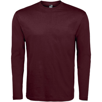 Textiel Heren T-shirts met lange mouwen Sols MONARCH COLORS MEN Violeta