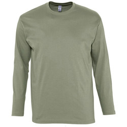 Textiel Heren T-shirts met lange mouwen Sols MONARCH COLORS MEN Beige