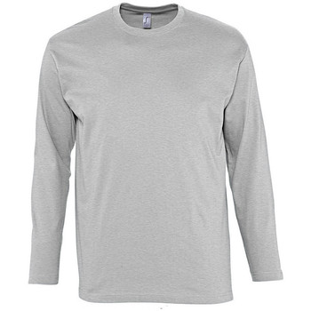 Textiel Heren T-shirts met lange mouwen Sols MONARCH COLORS MEN Gris