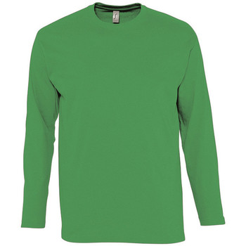 Textiel Heren T-shirts met lange mouwen Sols MONARCH COLORS MEN Verde