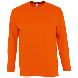 Textiel Heren T-shirts met lange mouwen Sols MONARCH COLORS MEN Naranja