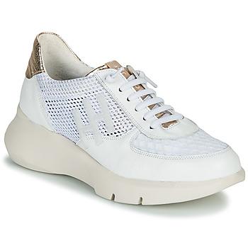 Schoenen Dames Lage sneakers Hispanitas CUZCO Wit / Goud / Roze