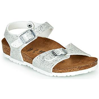 Schoenen Meisjes Sandalen / Open schoenen Birkenstock RIO Zilver