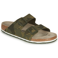 Schoenen Heren Leren slippers Birkenstock ARIZONA Groen