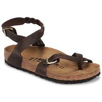 Schoenen Dames Sandalen / Open schoenen Birkenstock YARA LEATHER Bruin