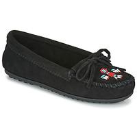 Schoenen Dames Mocassins Minnetonka THUNDERBIRD II Zwart