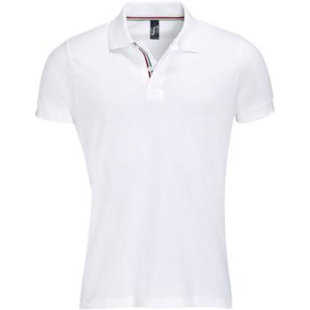 Textiel Heren Polo's korte mouwen Sols PATRIOT FASHION MEN Blanco