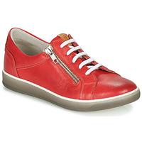 Schoenen Dames Lage sneakers Dorking KAREN Rood / Beige