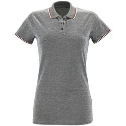 Textiel Dames Polo's korte mouwen Sols PANAME CITY WOMEN Gris