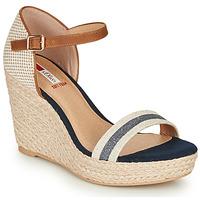 Schoenen Dames Sandalen / Open schoenen S.Oliver NOULATI Beige / Marine