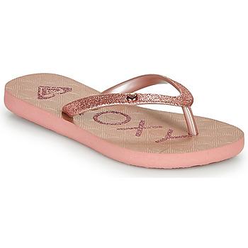 Schoenen Meisjes Teenslippers Roxy VIVA GLTR III Roze