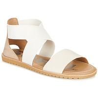 Schoenen Dames Sandalen / Open schoenen Sorel ELLA SANDAL Wit / Beige