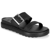 Schoenen Dames Sandalen / Open schoenen Sorel ROAMING BUCKLE SLIDE Zwart