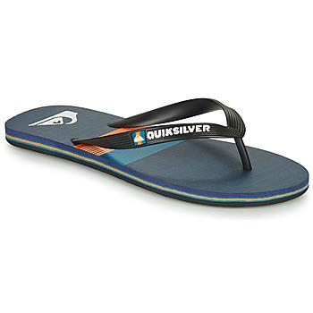 Schoenen Heren Teenslippers Quiksilver MOLOKAI SEASONS Zwart / Blauw / Oranje