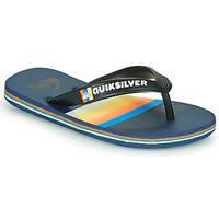 Schoenen Kinderen Teenslippers Quiksilver MOLOKAI SLAB Blauw / Oranje / Zwart