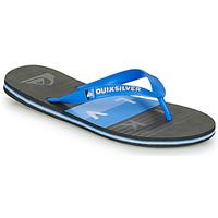 Schoenen Heren Teenslippers Quiksilver MOLOKAI WOLRDBLOCK Blauw / Zwart