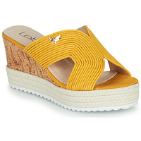Schoenen Dames Leren slippers Les Petites Bombes LIDY Mosterd