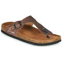 Schoenen Dames Leren slippers Les Petites Bombes TANIA Brons