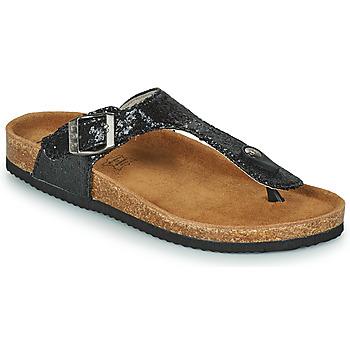 Schoenen Dames Leren slippers Les Petites Bombes TANIA Zwart