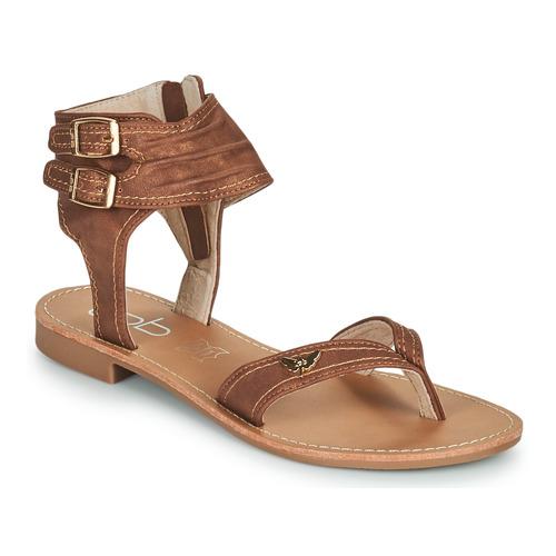Schoenen Dames Sandalen / Open schoenen Les Petites Bombes CAMEL Camel