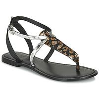 Schoenen Dames Sandalen / Open schoenen Les Petites Bombes ALIX Zwart / Zilver