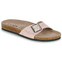 Schoenen Dames Leren slippers Les Petites Bombes ROSA Roze