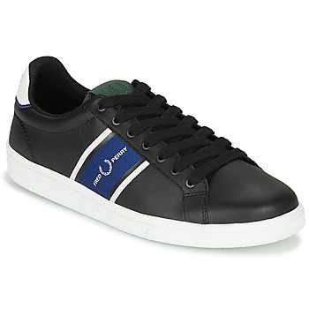 Schoenen Heren Lage sneakers Fred Perry B721 LEATHER / WEBBING Zwart