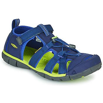 Schoenen Kinderen Outdoorsandalen Keen SEACAMP II CNX Blauw / Groen