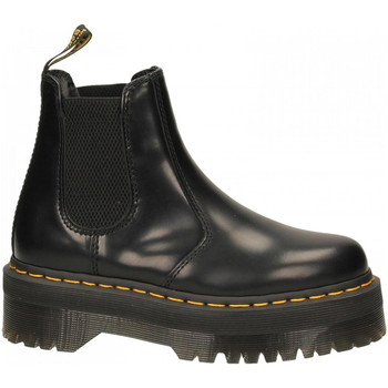 Schoenen Dames Enkellaarzen Dr Martens 2976 QUAD BLACK POLISHED SMOOTH nero