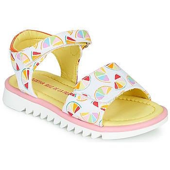 Schoenen Meisjes Sandalen / Open schoenen Agatha Ruiz de la Prada SMILES Wit / Multi