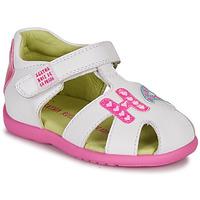 Schoenen Meisjes Sandalen / Open schoenen Agatha Ruiz de la Prada HAPPY Wit / Roze