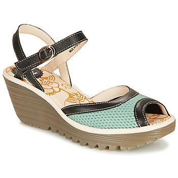 Schoenen Dames Sandalen / Open schoenen Fly London YANS Blauw / Zwart