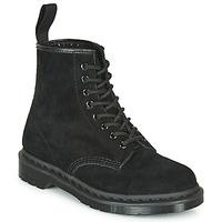 Schoenen Laarzen Dr Martens 1460 MONO SOFT BUCK Zwart