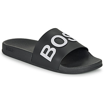 Schoenen Heren slippers BOSS BAY SLID RBLG Zwart / Wit